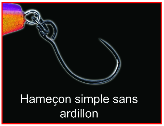 Hameçon simple sans ardillon