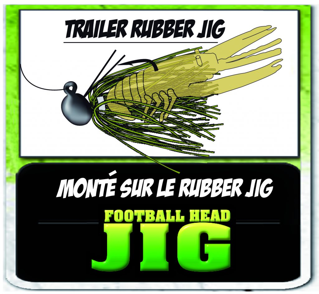 Crawbug en tailer d'un Football Head Jig