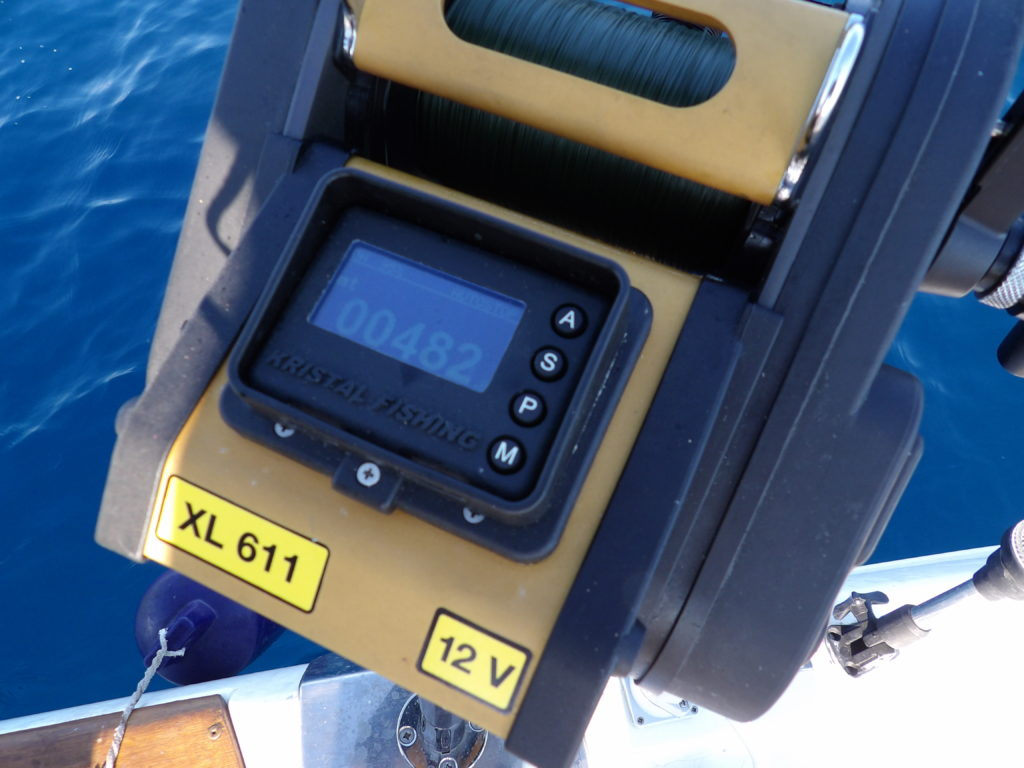482 m: le moulinet XL611 Kristal Fishing en action !