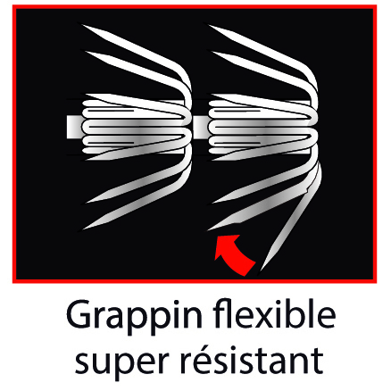 Grappin flexible ultra résistant