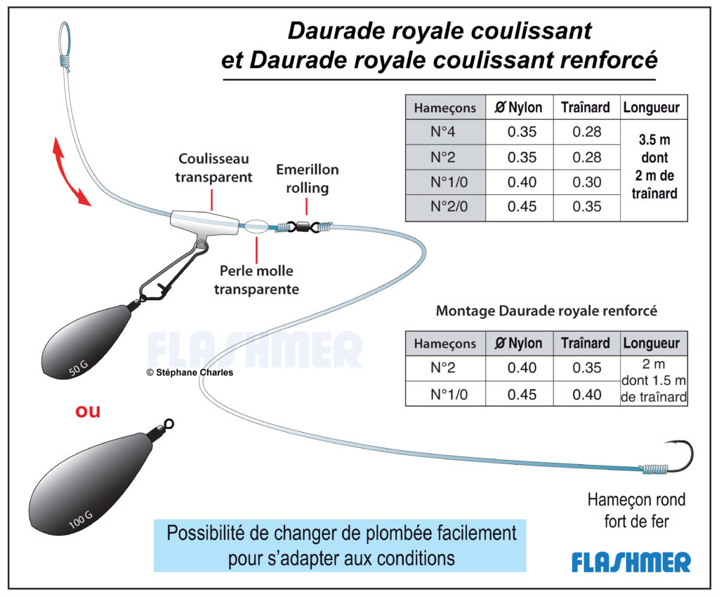 Montage Daurade Royale Coulissant Flashmer